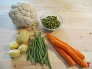 pulire verdure insalata russa
