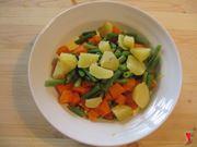 mescolare maionese e verdure