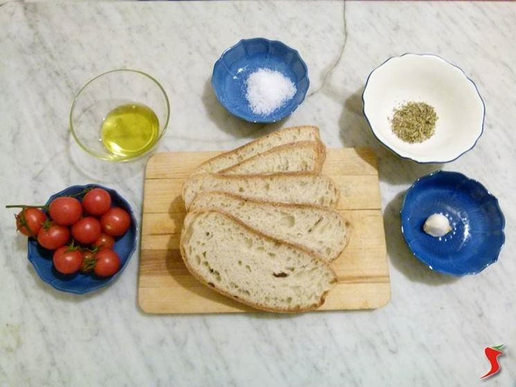 ingredienti bruschette
