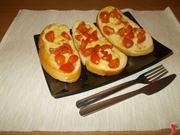 Crostini alla  mozzarella