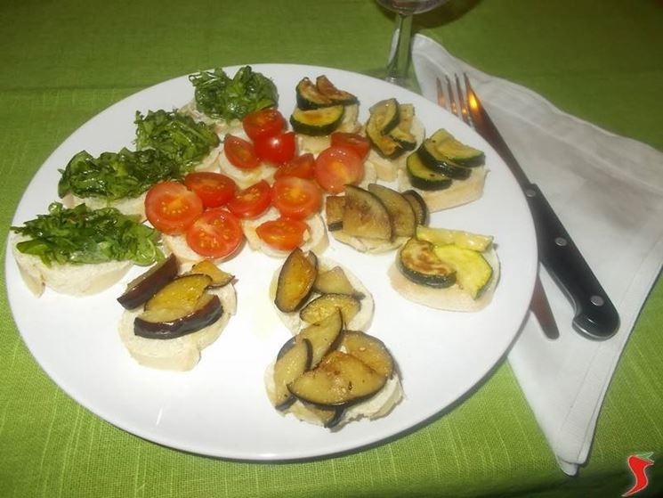 I crostini vegetariani