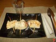 Gli involtini di pollo con prosciutto