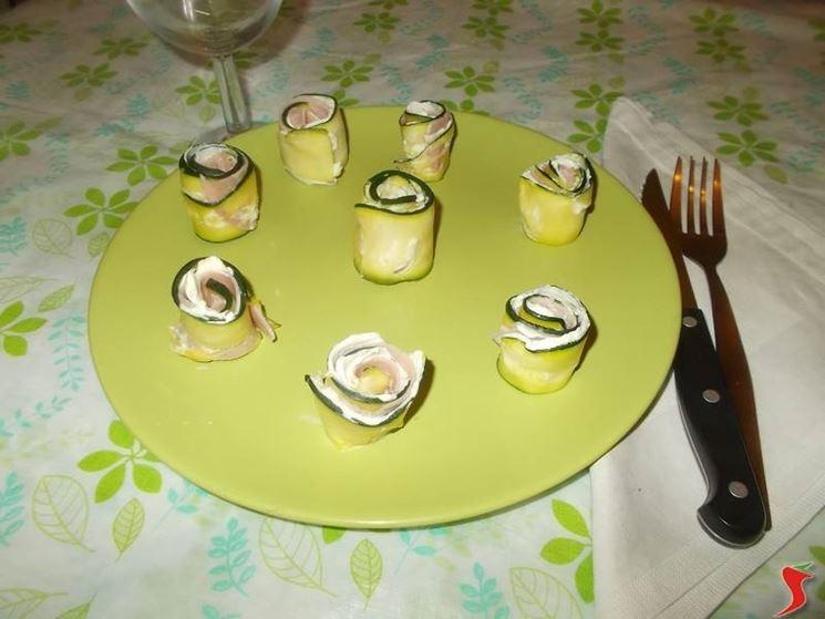 Gli involtini di zucchine grigliate