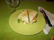 Il sandwich al salmone