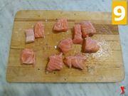 tagliare salmone