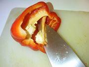 La pulizia dei peperoni