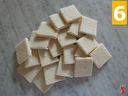 tagliare il pane bianco