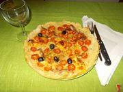 La torta salata ai pomodorini