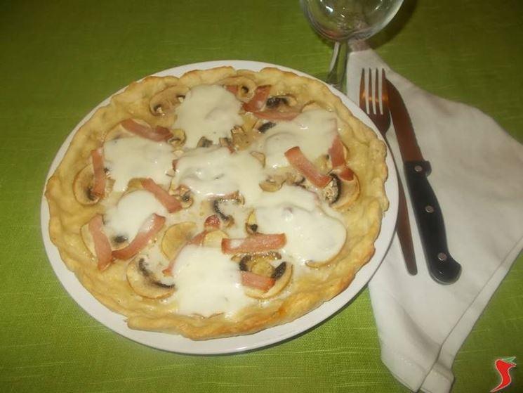 La torta salata ai funghi