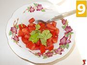Il condimento dei pomodori