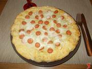 Torta salata wurstel e patate