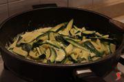 mescolare le zucchine
