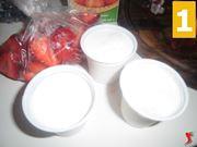 congelare le fragole e la panna