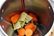 mettere nel bimby con sedano e aglio