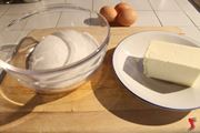 burro e zucchero per muffin