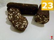 servire il salame di cioccolata