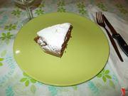 La torta al cacao e cocco