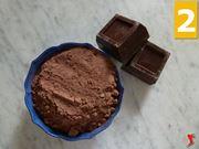 cioccolato fondente e cacao zuccherato