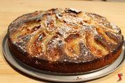 torta di mele e zucchero a velo