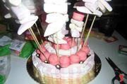 Spiedini di marshmallow