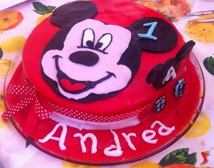 Torta di compleanno di topolino