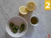 olive, olio e limone