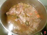 carne e sugo in cottura