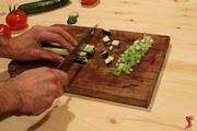 Tagliare le verdure a dadini