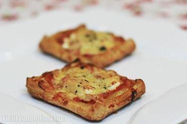 pizza con pasta sfoglia