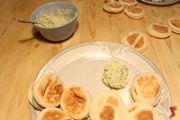farcire i salatini con la crema di gamberi