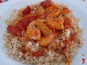 cous cous con gamberi