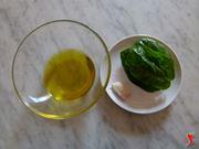 olio basilico e aglio