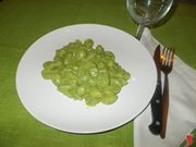 Gli gnocchi con gli spinaci
