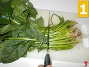 Pulire gli spinaci