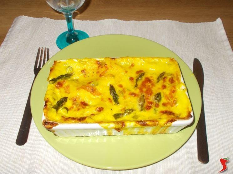 Le lasagne con gli asparagi