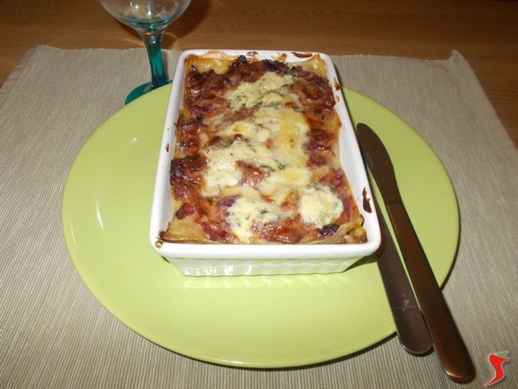 Le lasagne con radicchio