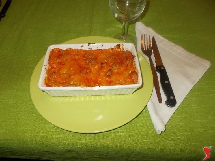 Le lasagne con la salsiccia