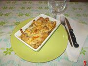 La lasagna con salsicce e funghi