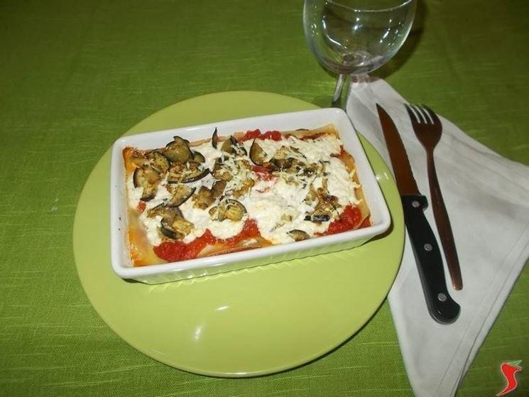Le lasagne con le melanzane