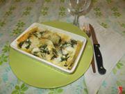 Le lasagne con gli spinaci e la ricotta
