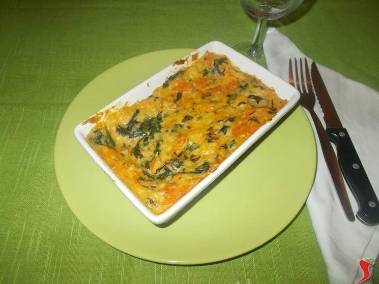 La lasagna con gli spinaci