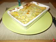 Le lasagne con zucchine e gamberetti