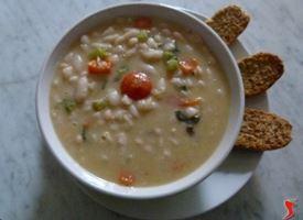 minestrone di fagioli