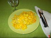 La pasta con zucca e salsiccia