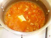 La cottura della salsa