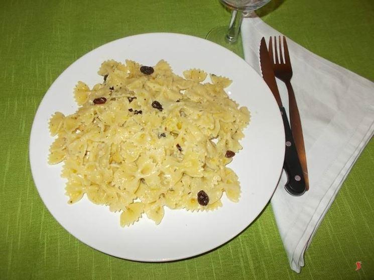 La pasta al gorgonzola