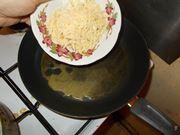La preparazione della crema di formaggi