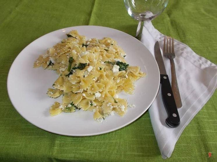 La pasta spinaci e ricotta