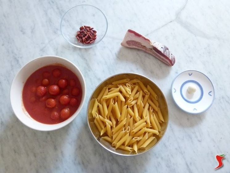 ingredienti penne all'arrabbiata