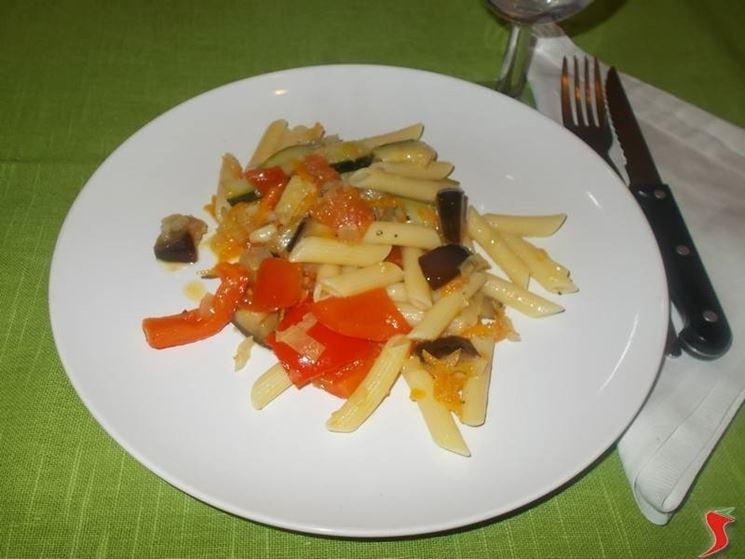 Le pennette con le verdure